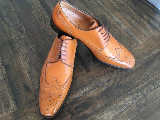 Wingtip blucher derby shoe by Saks Fifth Avenue