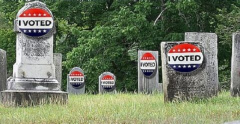 I Voted Stickers On Graves
