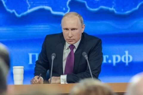 Putin Standing At Podium