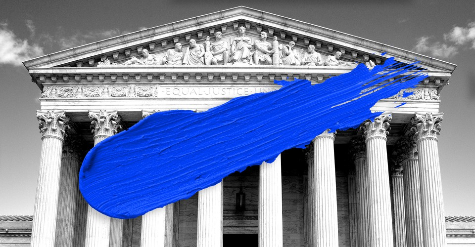 Supreme Court With Blue Paint