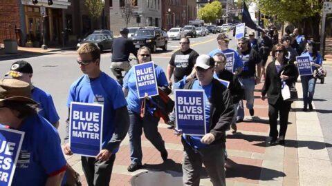 Blue Lives Matter Protest