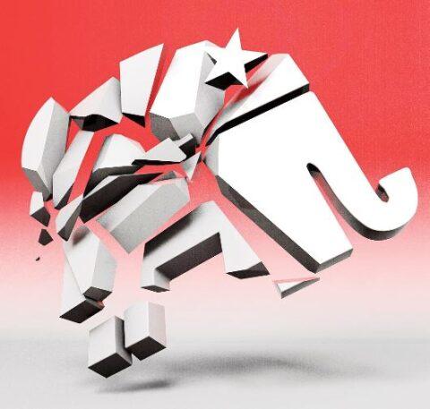 Republican Elephant Broken In Pieces