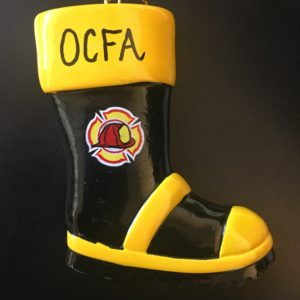 Ornament Fire Fighter boot