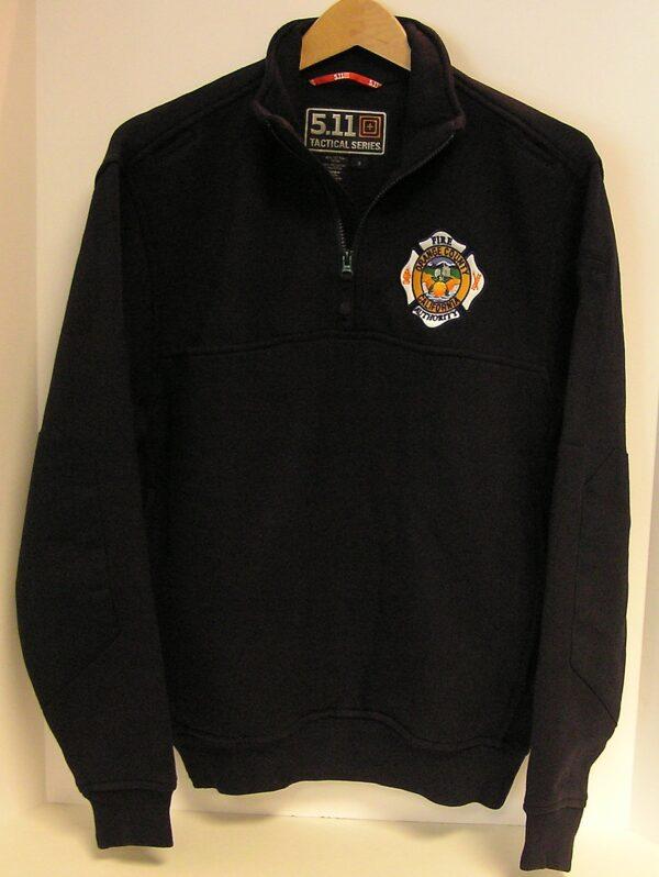 SOP  5.11 1/4 Zip Job Shirt  (BLACK) (OCFA Employees Only)