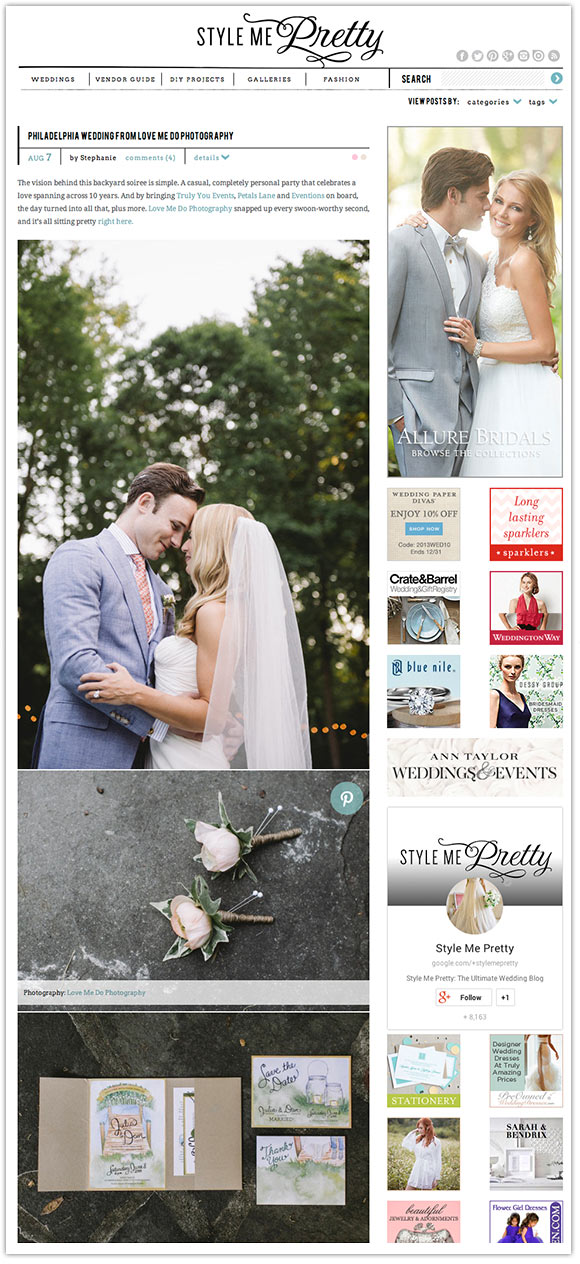 Hand-Painted Weddings on Style Me Pretty!