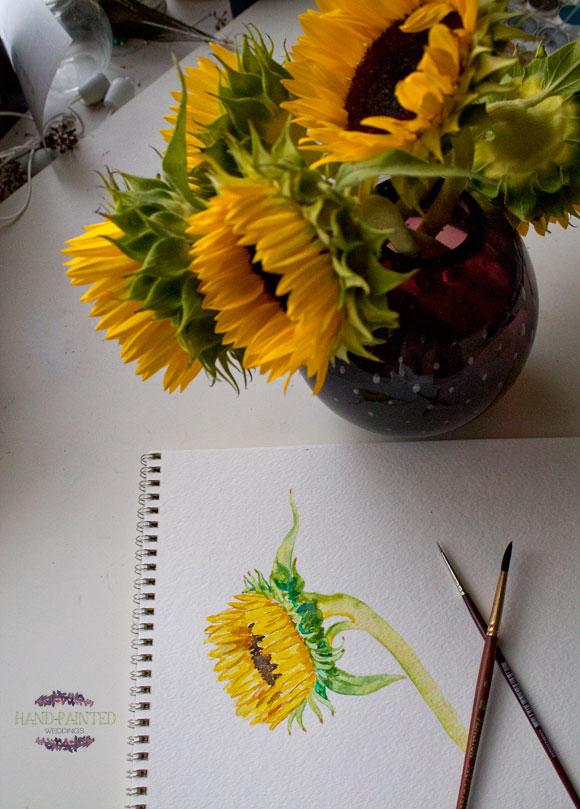 In the Studio: Sunflowers