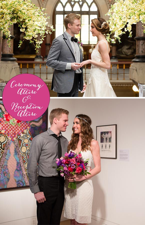 Two Wedding Locations, Two Outfits