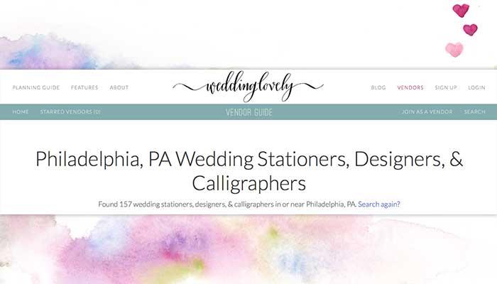 Philadelphia Wedding Stationery Introduction on WeddingLovely now Live!