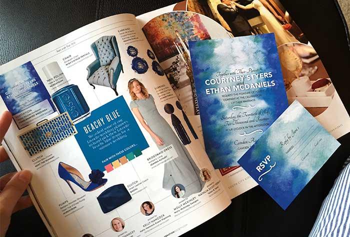 Hand-Painted Weddings published in Celebration Society Weddings Magazine