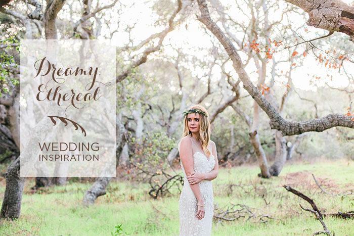Dream, ethereal wedding inspiration with effortless, boho touches
