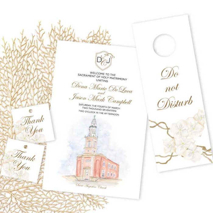 Gold Wedding Day Paper