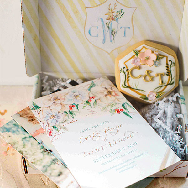 Elegant Winter Floral Save-the-Date