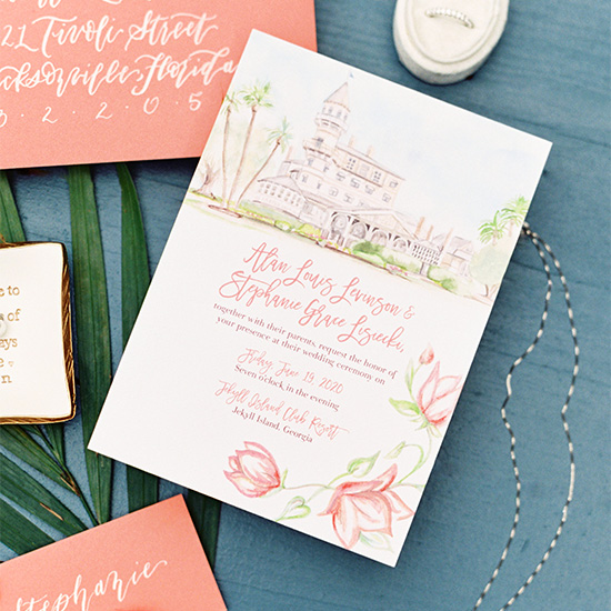 Jekyll Island Club Resort Micro Wedding featured on Martha Stewart Weddings