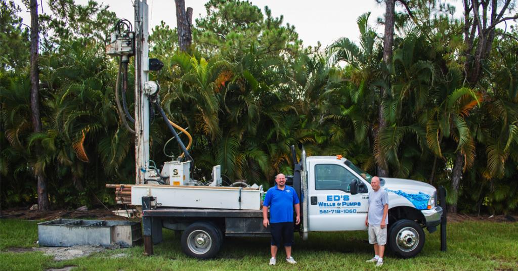 Ed's Wells & Pumps' Well Drilling Truck Rig