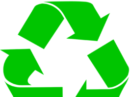 three green arros making recycle symbol