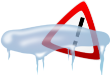 alert icon with ice