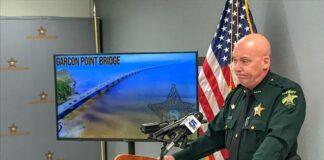 Sheriff Johnson standing at a podium