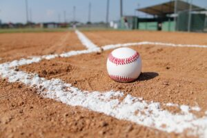 baseball on a baseball field