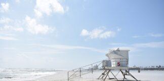 Lifeguard tower on a beach