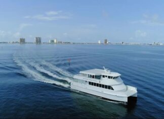 Ferry boat in Pensacola Bay