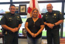 Three people, two in sheriffs uniform
