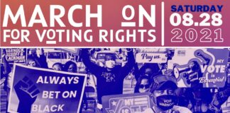 March for Voting Rights poster