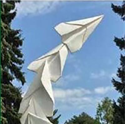 paper plane sculpture