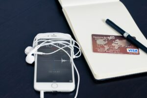 cell phone and credit card