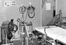 old photo of original operating room
