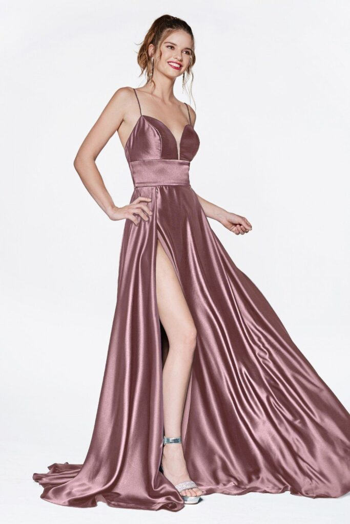 long-satin-gown