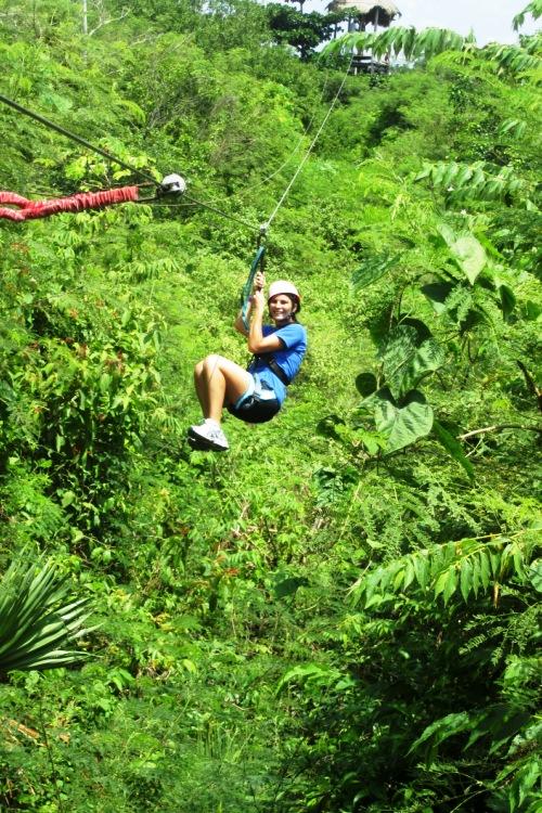 Zip lining in Riviera Maya