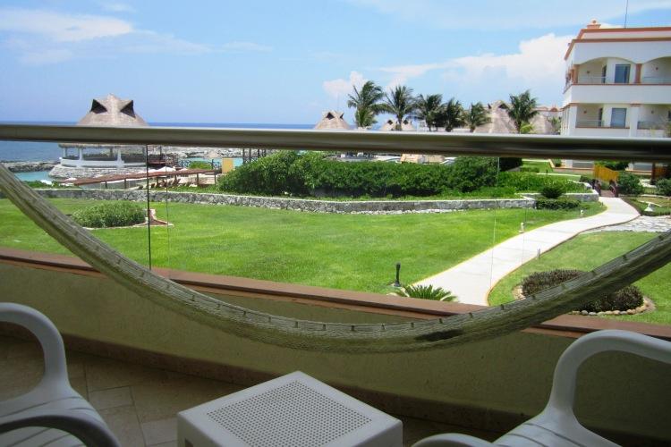 View from balcony at Aventura Spa Palace