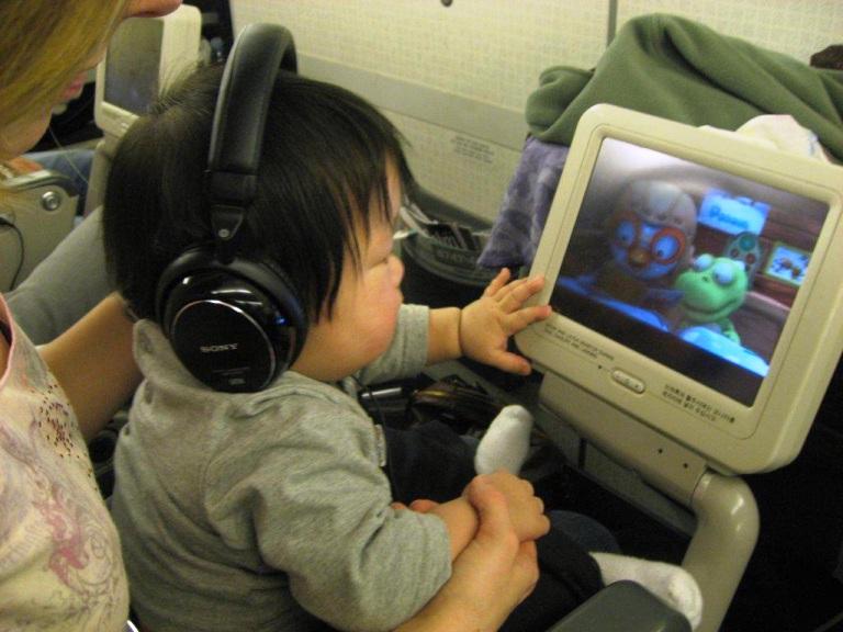 Nicholas on plane