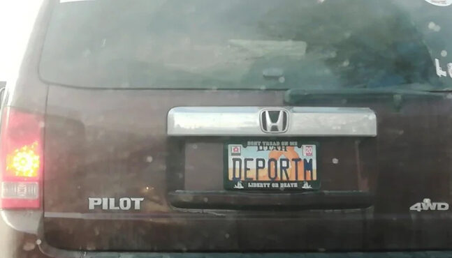 """""""DEPORTM,"""" License Plate Has Liberal Teacher Freaking-Out"""