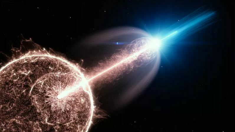 Gamma-Ray Explosion Close to Earth Shocks Scientists
