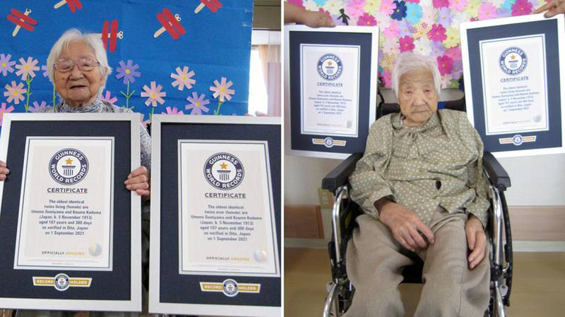 Japanese Sisters are World's Oldest Twins at 107