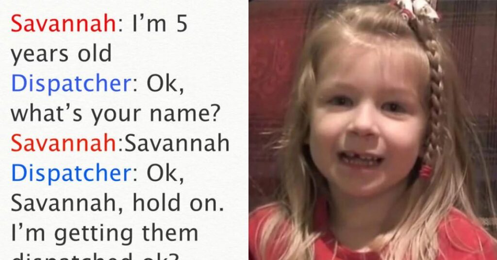 5-yr old Girl Dials 911 To Save Dad's Life, Call Is Cracking Everyone Up