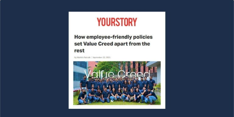 """YourStory, Recognizes Value Creed's Standout Devotion to an """"Employee First"""" Culture"""
