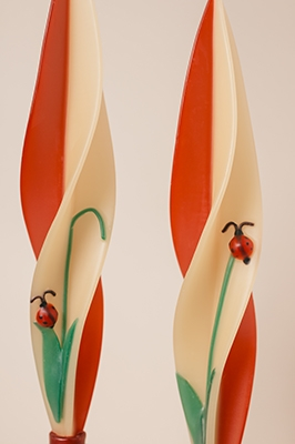 Lady Bug Candle-twised Beeswax Candles