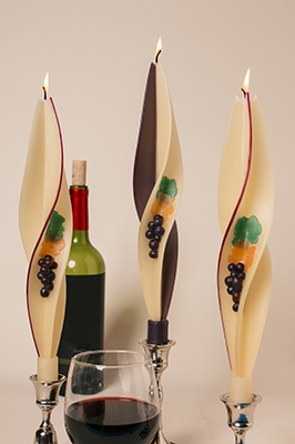 tuscany-grape-silhouette-twised Beeswax Candles