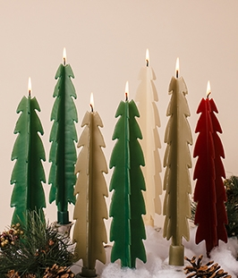 Pine Tree Candle-twised Beeswax Candles