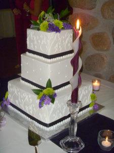wedding 3-twised Beeswax Candles