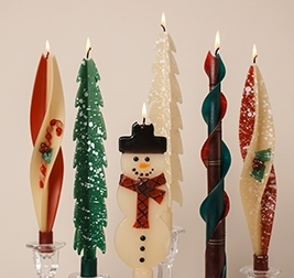 Christmas-twised Beeswax Candles