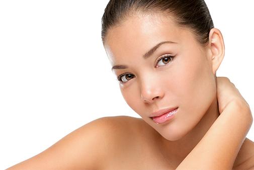 beautiful asian woman with perfect skin