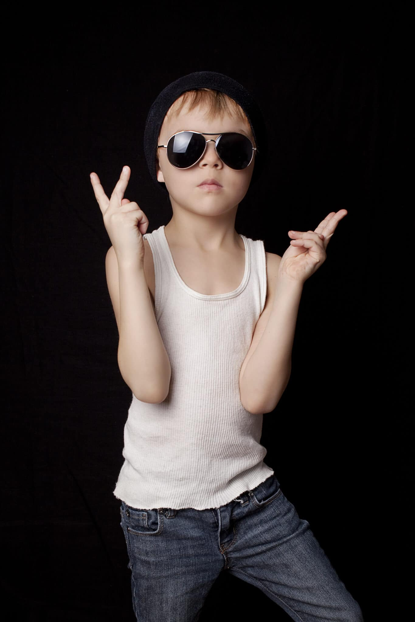 Boy with sunglasses