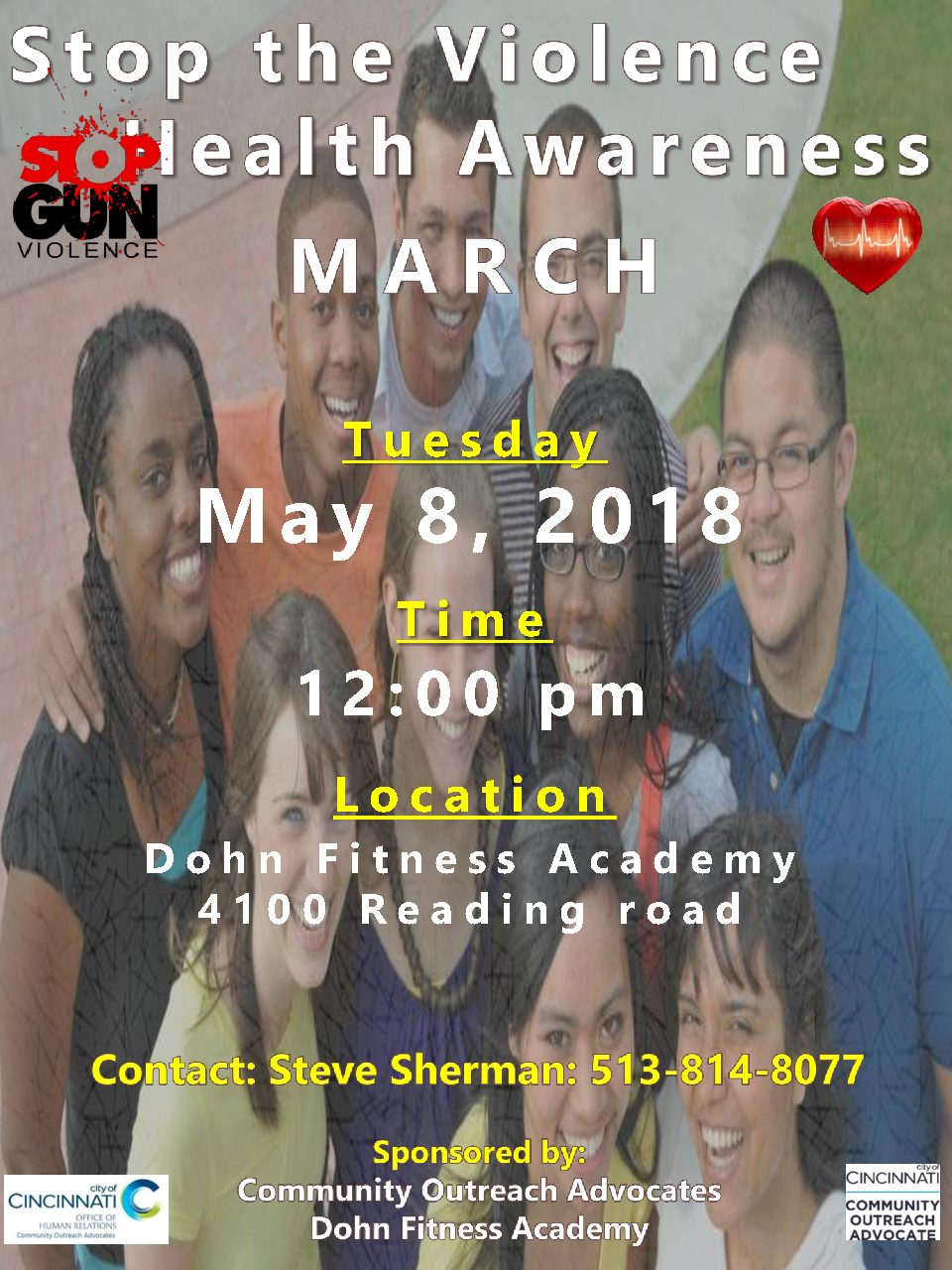 Dohn co-sponsors Stop the Violence March
