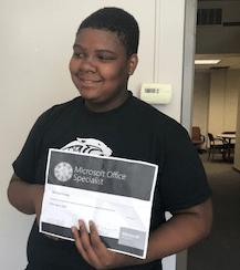 Warrick Fraley, Dohn's First Recipient of Microsoft 2016 Office Certification