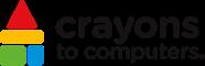 Crayons to computer logo