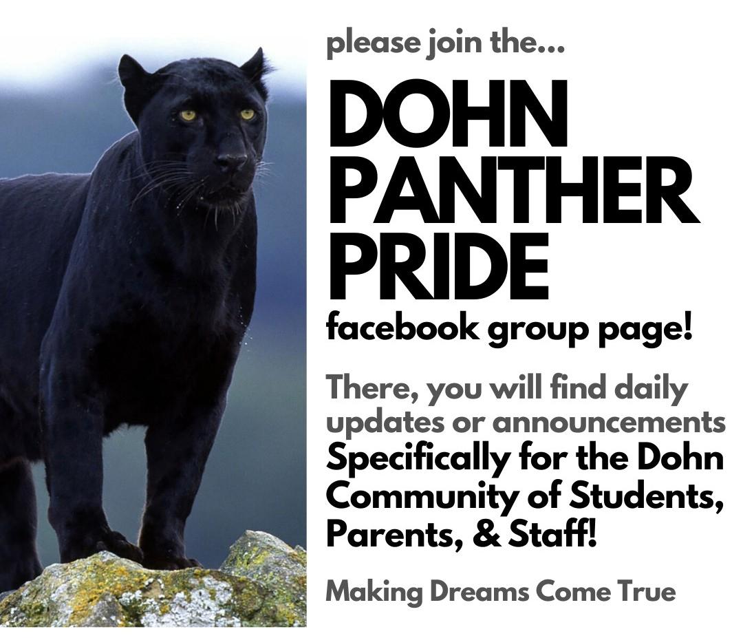 Dohn Panther Facebook promo