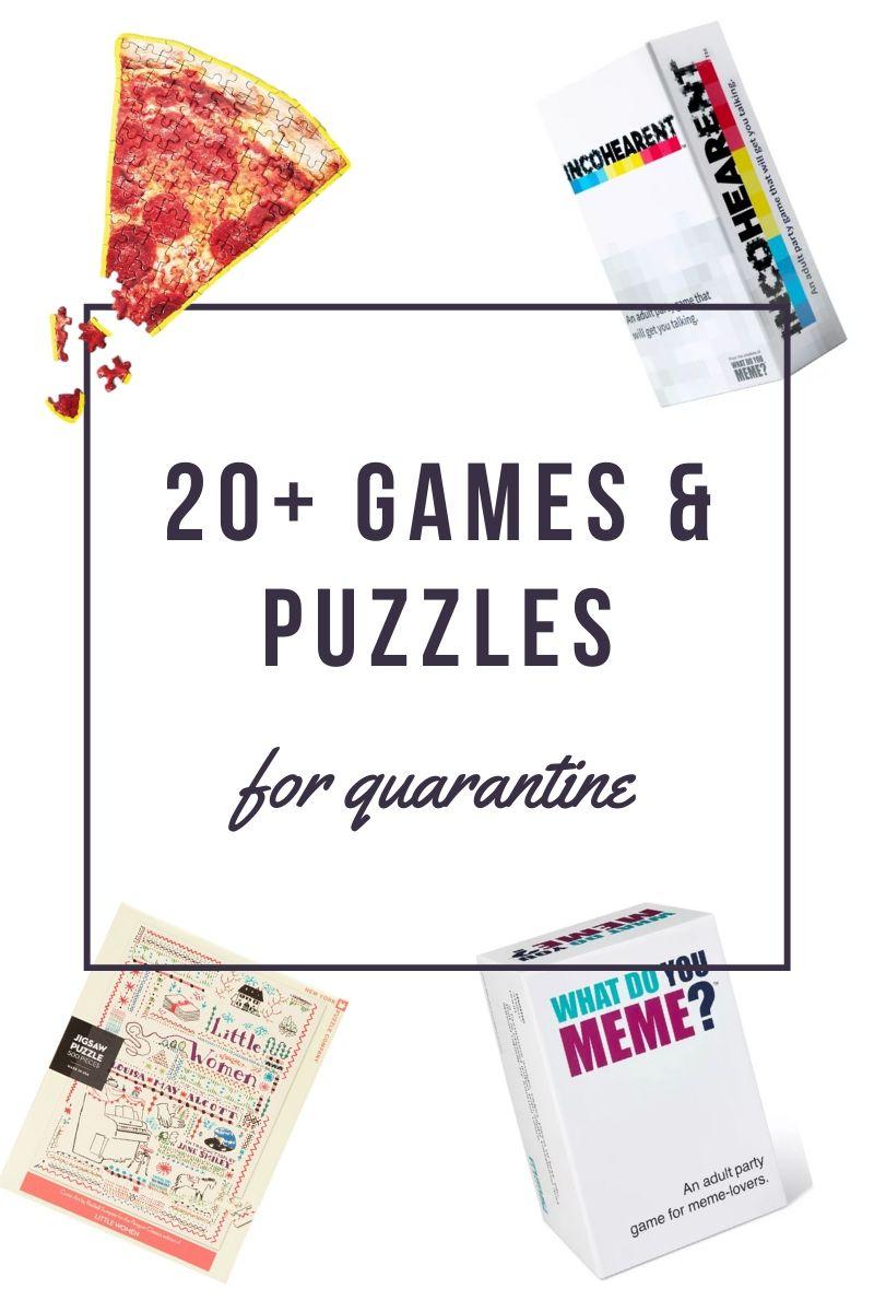 20+ Games & Puzzles for Quarantine Fun
